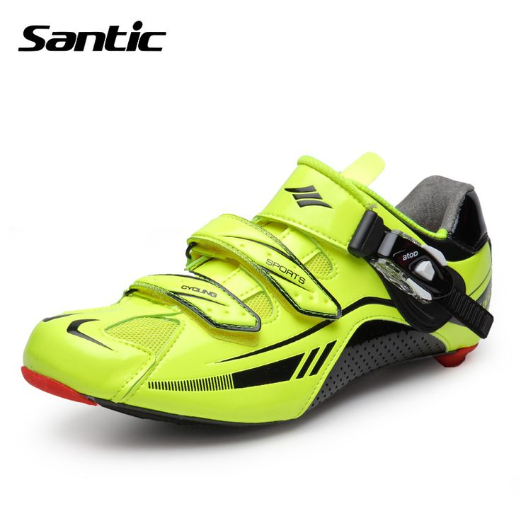Santci Professional Men Cycling Shoes Carbon Soles Road Bike Breathable Bicycle Self-Locking Shoes Zapatos Ciclismo