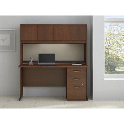 "Bush Business Furniture Series C Elite Computer Desk Finish: Hansen Cherry, Size: 30"" H x 65"" W x 30"" D"