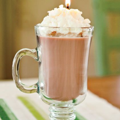 Hot cocoa candle! Looks so real! Going to make this next week for Payton's teachers valentines presents and put red and pink ribbon around the handles