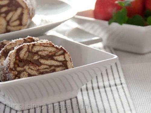 Salam de biscuiți cu nucă - imagine 1 mare