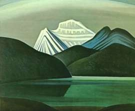 Mountain and lake, by Lawren Harris
