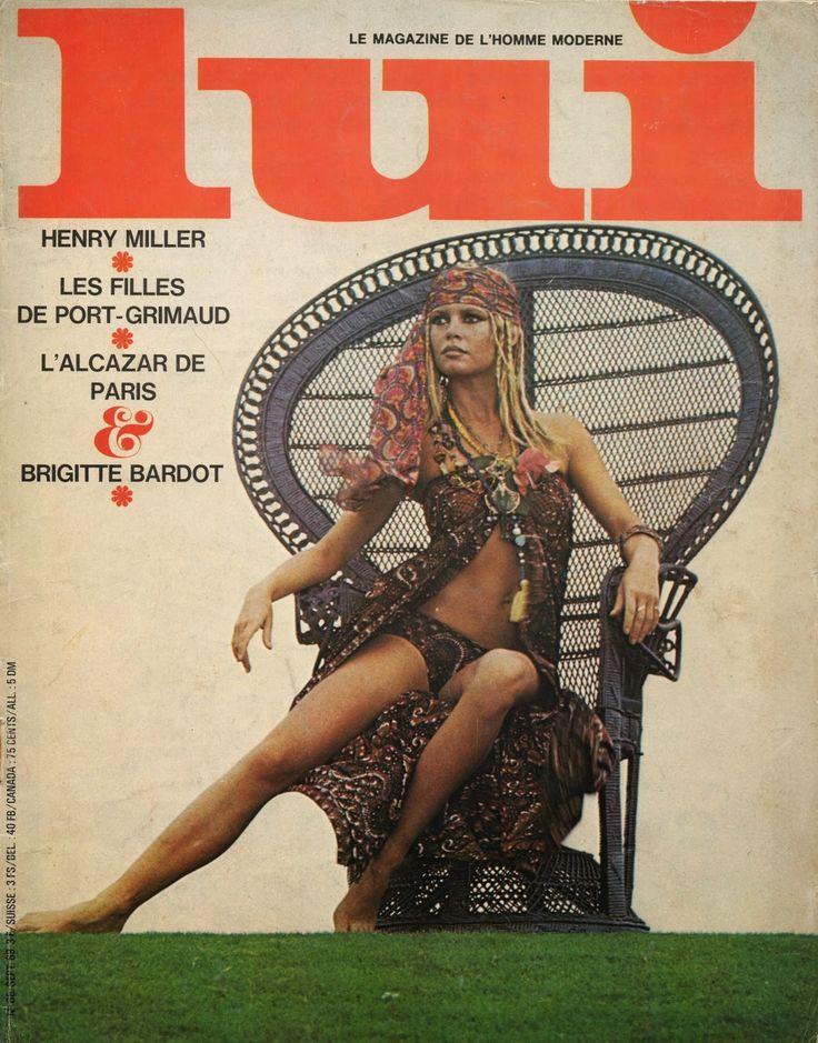 Brigitte Bardot dans LUI Magazine n°68 - Septembre 1969. Femme-enfant, femme fatale ou bien femme-animal, Brigitte Bardot reste d'un film à l'autre cette femme idéale et multiple que toutes les femmes rêvent d'imiter et dont rêvent tous les hommes...