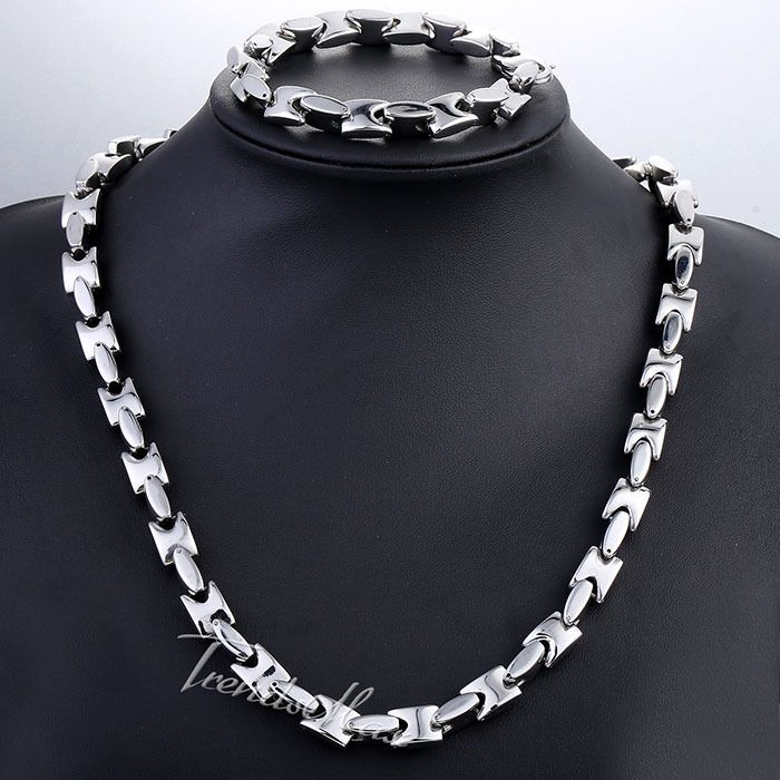 Find More Jewelry Sets Information about Jewelry Set 10mm Wide Heavy Mens Chain Boys Silver/Gold Silver Tone Square Bead Link Stainless Steel Necklace Bracelet KS193,High Quality necklace deer,China necklace separator Suppliers, Cheap necklace orchid from Trendsmax Flagship Store on Aliexpress.com