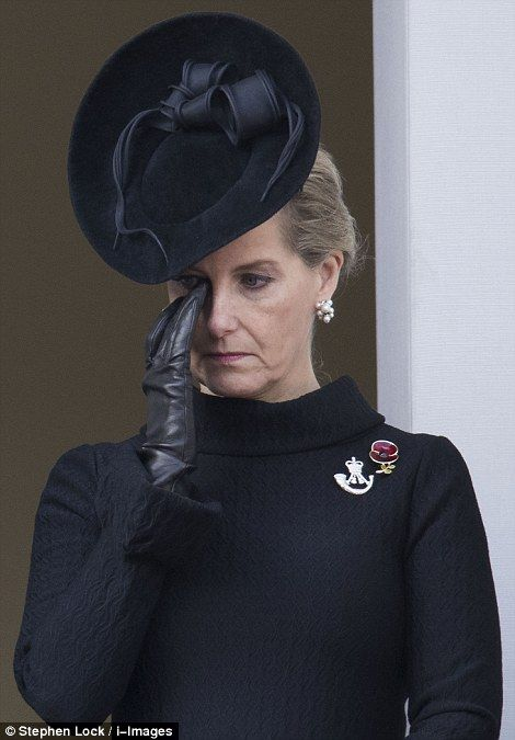 The Countess of Wessex was among many who found themselves moved to tears yesterday as the...