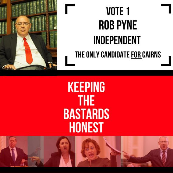 If you believe Annastacia Palaszczuk has provided 'good government' or Tim Nicholls MP would, please do NOT vote for me. If you trust neither of them please give me your support at the upcoming state election on 25 November.