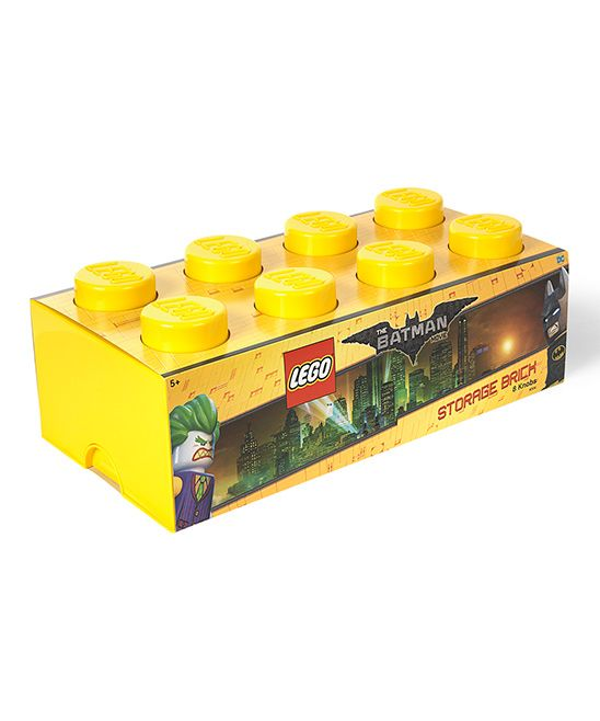 Yellow 2x4 LEGO Batman Storage Brick