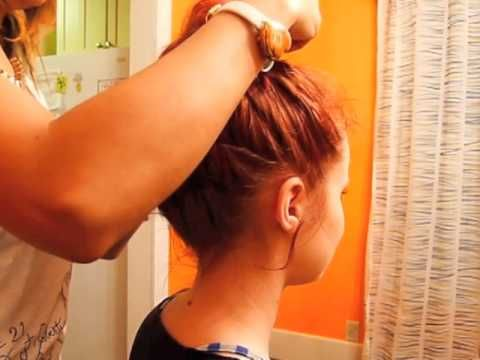 How to Do a Messy Top Knot Bun
