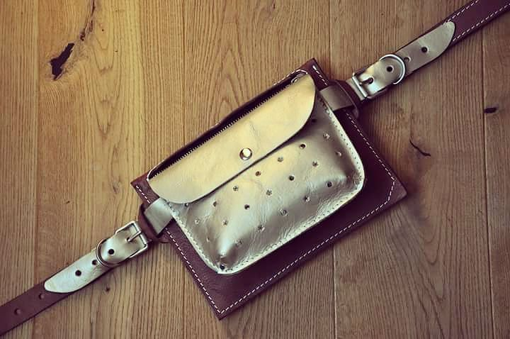 Напоясная модульная сумка, в комплекте с ремнём.  #Кожаная_женская_сумка #кожаная_мужская_сумка #дизайнерские_сумки #необычные_сумки #авторские_сумки #сумки_ручной_работы #handmade_bags #woman_leather_bags #burtsevbags #напоясная #beltbag