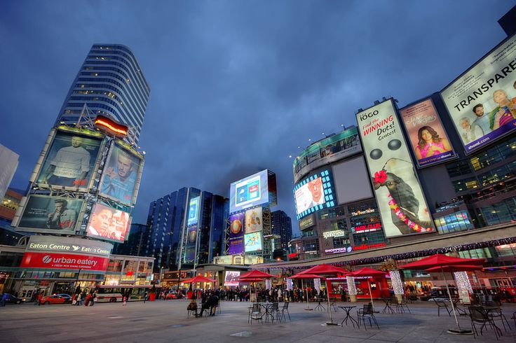 Dundas Square @night, Toronto