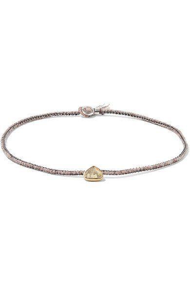 Orbit 14-karat Gold, Sterling Silver And Aquamarine Bracelet - one size Brooke Gregson