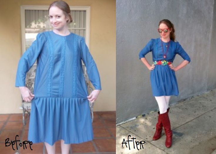 This girl bought clothing from thrift stores everyday for a year with a budget of a dollar an item and redesigned them to fit/be in style. So awesome!