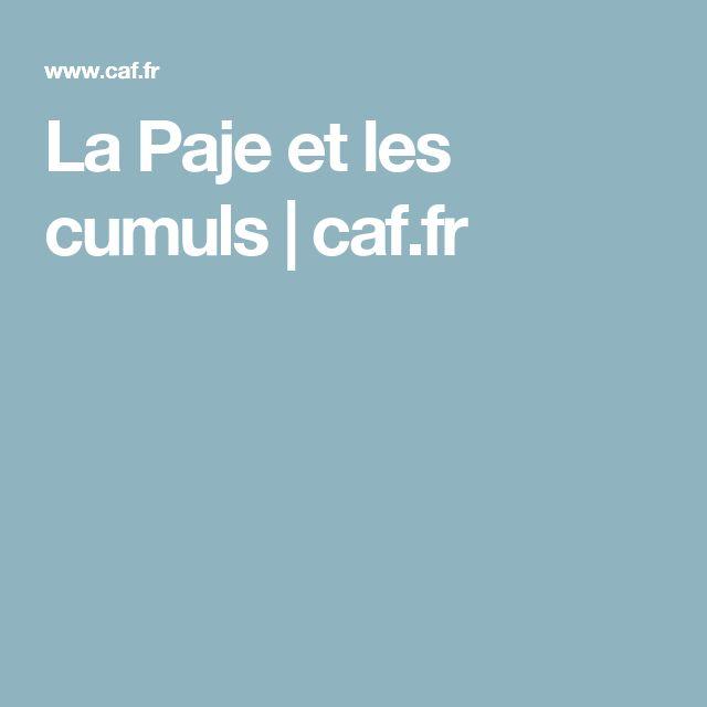 La Paje et les cumuls | caf.fr