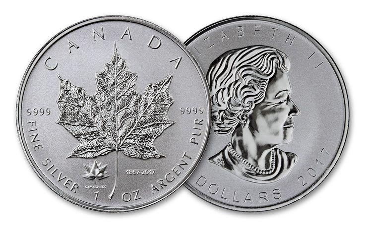 2017 Canada 5 Dollar 1-oz Silver Maple Leaf Reverse Proof 150th Anniversary