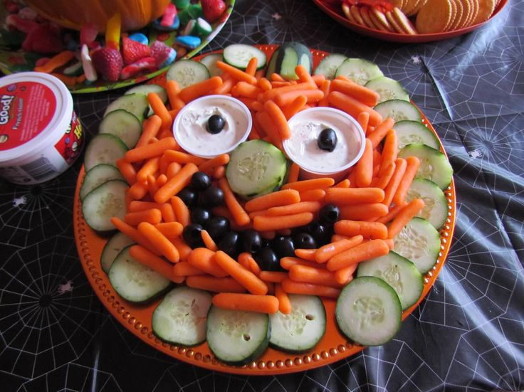 Halloween Veggie Platter Maxwells 1st Birthday