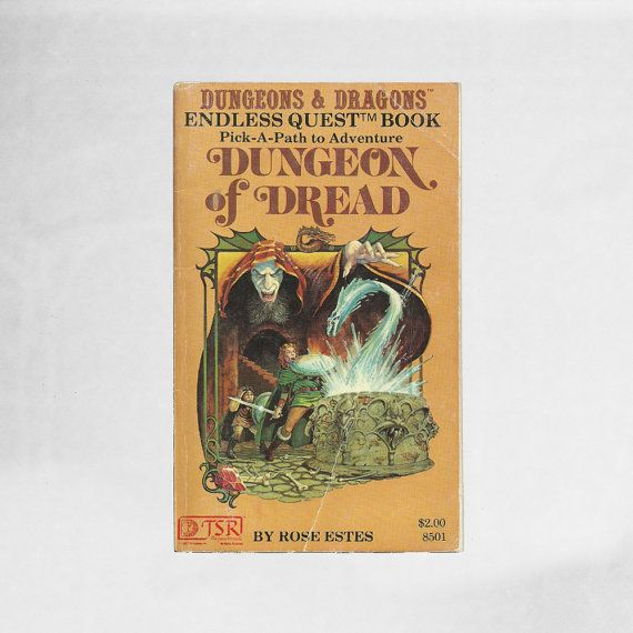 New in The Book Cottage: Dungeons and Dragons Endless Quest Book No 1 | Dungeon of Dread 1980s Fantasy Choose Your Own Adventure Book | Vintage Teen Table Top Book by TheBookCottage