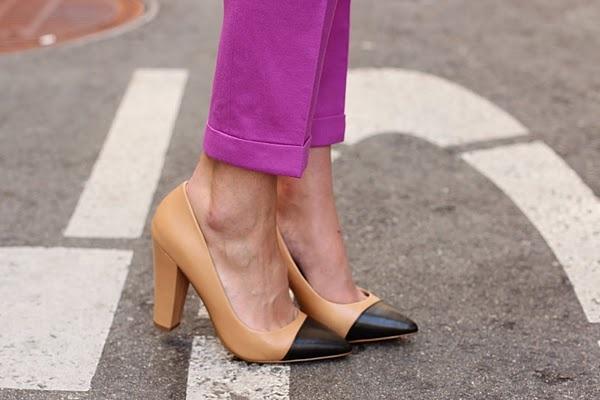 cap toeColors Combos, Blair Eadie, Style, Cap Toes, Pink Pants, Black Shoes, Fashion Blog, Pump, Jcrew