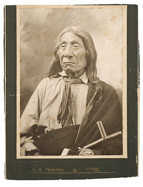 Unpublished Silver Gelatin Cabinet Photograph of Red Cloud, Oglala Sioux Chief, (2007, Western & Historic Americana, Dec 6th and 7th)