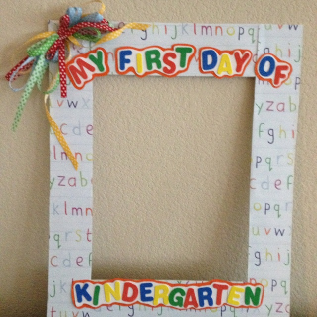 Beautiful First Day Of School Picture Frame Ideas Compilation ...