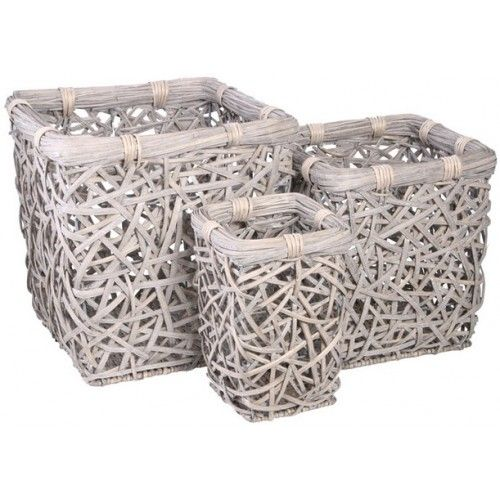 Mesh Laundry Basket - Square - Set of Three £149.99