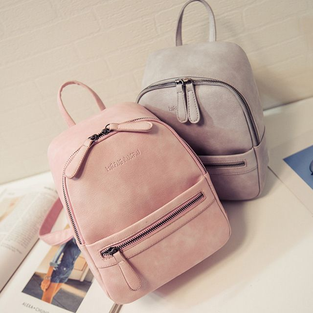 Femmes Sac À Dos Nouvelle Mode Casual PU Cuir dames féminin sac à dos De couleur de Sucrerie Corée école style solide Étudiant mini sac à dos