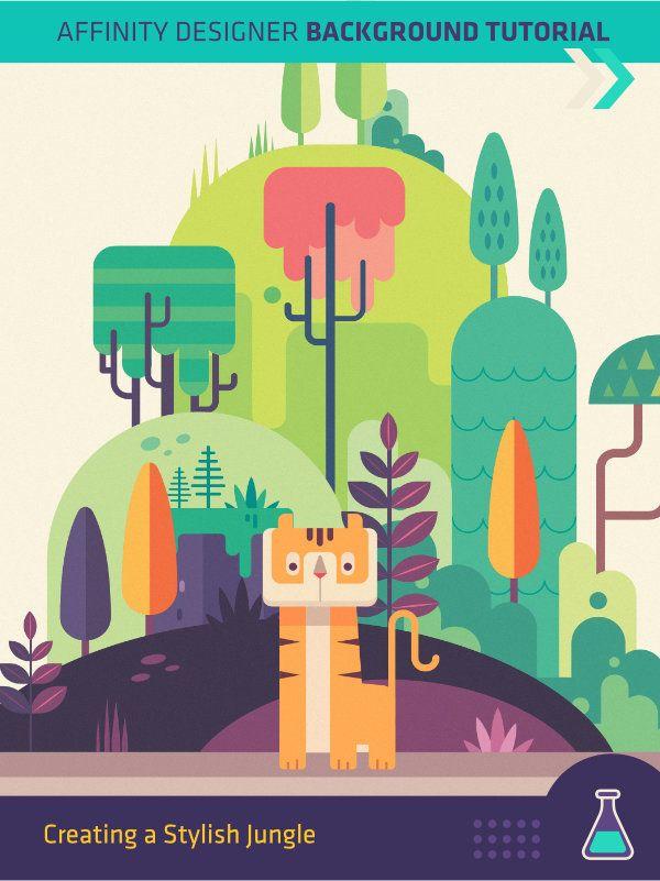 Creating a Stylish Jungle Scene in Affinity Designer | Frankentoon | Affinity Designer Tutorials, Brushes and Vector Packs