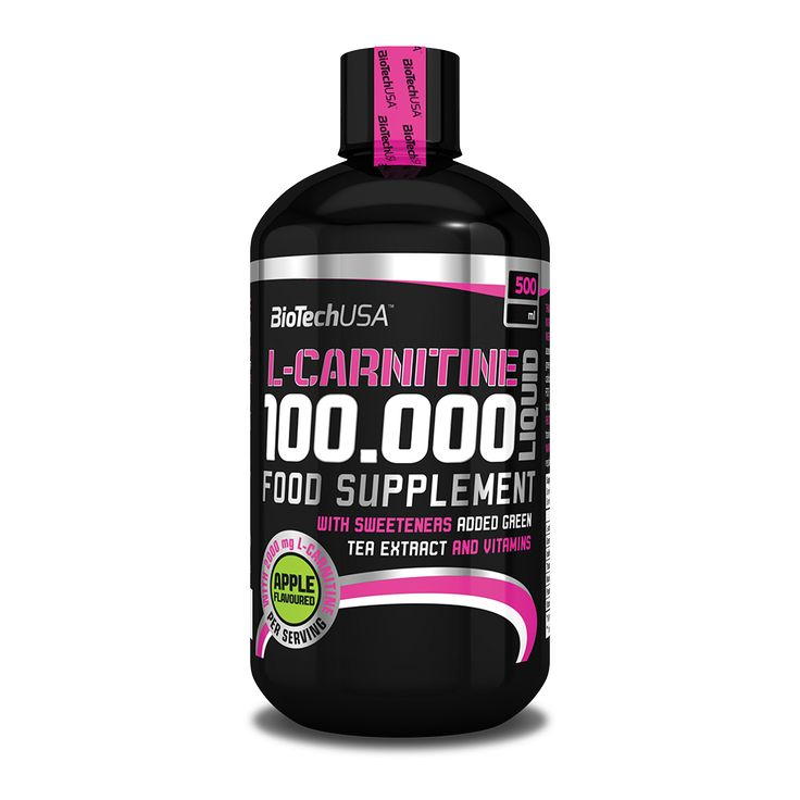BioTech USA's L-Carnitine 100.000 delivers 2000 mg of L-Carnitine per serving in highly dosed liquid form. It's made specifically for professional athletes. L-Carnitine 100.000 is enriched with vitamins: vitamin B1 promotes the normal function of the heart while vitamins B3, B5, B6 contribute to the reduction of tiredness and fatigue and to normal energy-yielding mechanism.