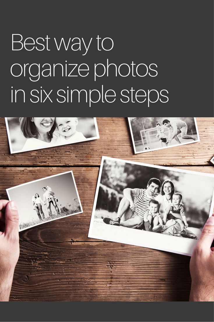 Professional organizer and certified personal photo organizer, Andi Willis, shares the best way to organize photos in six easy-to-follow steps.