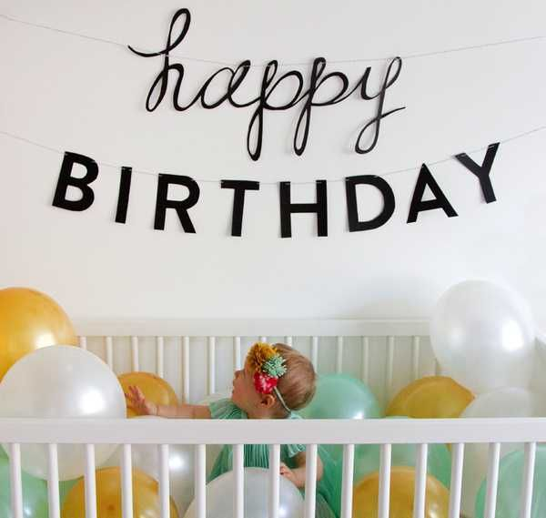 If you don't want to have a party for their first birthday, this is the perfect photo shoot to document the milestone