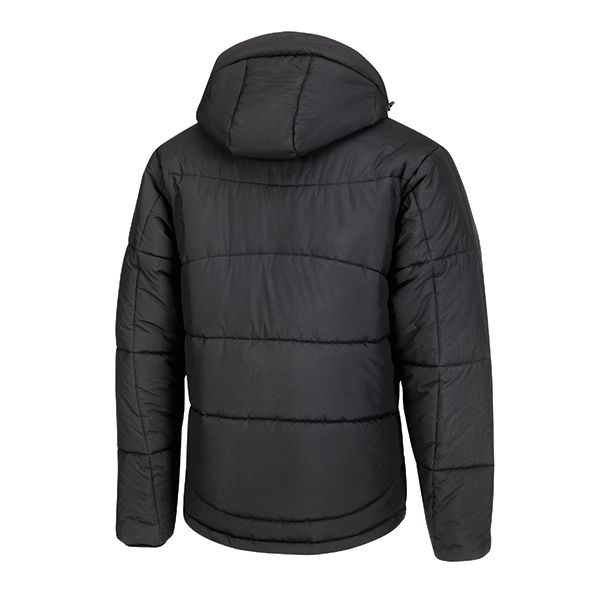 XD Apparel's Soft sustainable all-round winter jacket made of 100% recycled polyester with 170-gram polyester insulation, including jacket pouch and detachable hood, down free. Standard exchangeable zipper puller in black