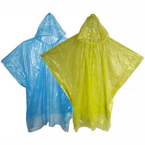 Disposable Rain Poncho with Hood