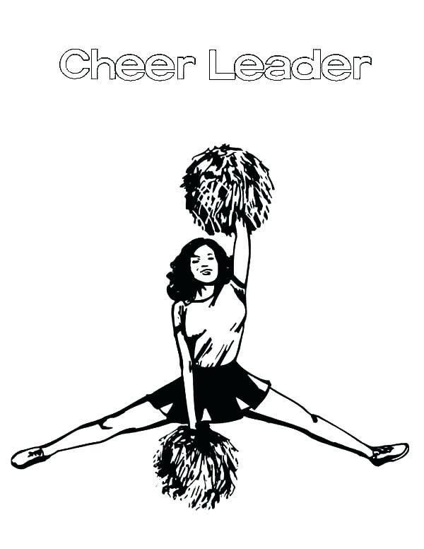Hello Kitty Cheerleader Coloring Pages Dibujos