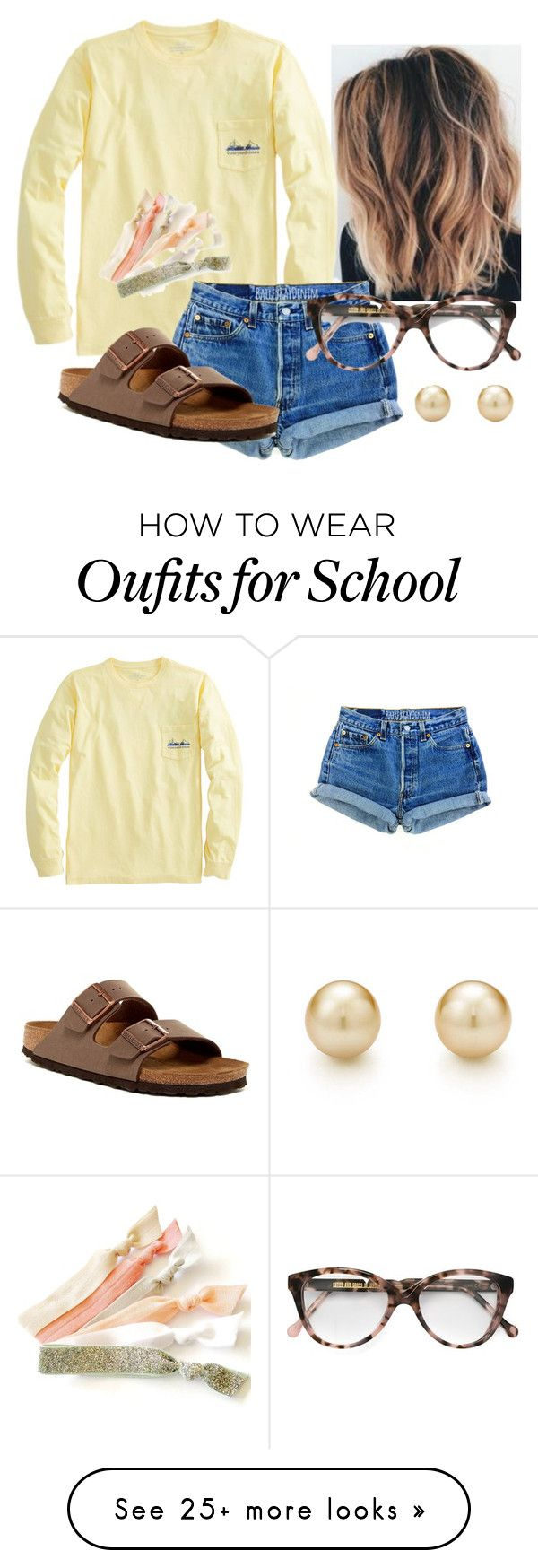 """Casual Spring!"" by katie-1111 on Polyvore featuring Birkenstock, Tiffany & Co. and Cutler and Gross"