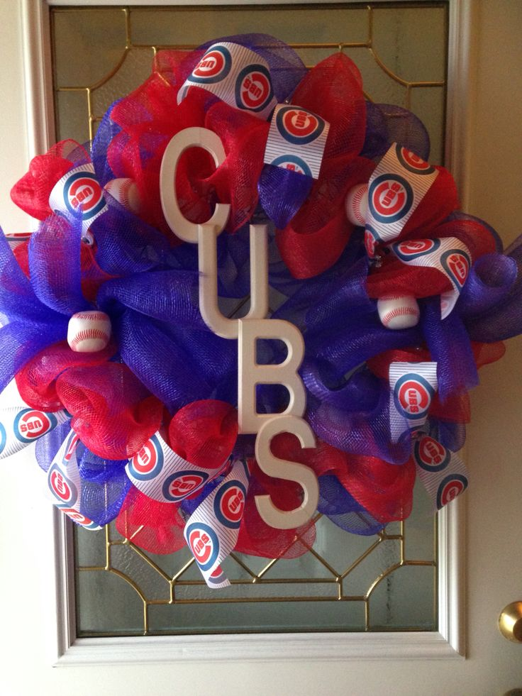 Chicago Cubs ... Hubby couldn't wait til this was outta the house!!!