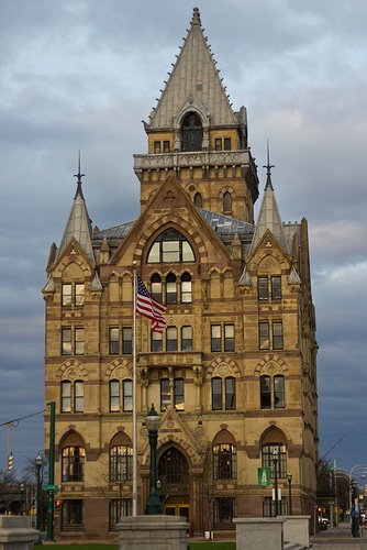 Syracuse Savings Bank. This is a very beautiful building of old world design located in Clinton Square. Love it.  B.