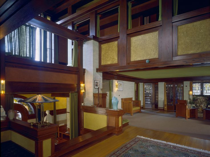 frank lloyd wright home interiors house springfield illinois 1904 prairie 23770