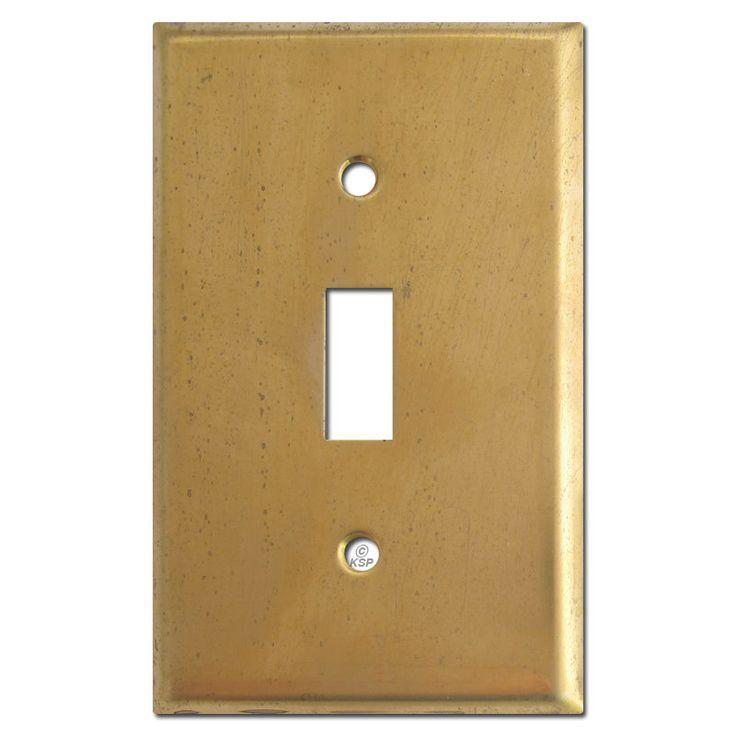 1 Toggle Light Switch Plates - Unfinished Raw Brass