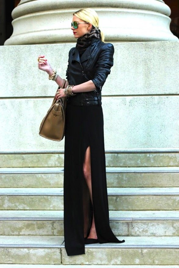 Love this, all black! Skirt and scarf = fab!    http://whippedstyle.com/2012/09/13/wardrobestyle-blackblack/