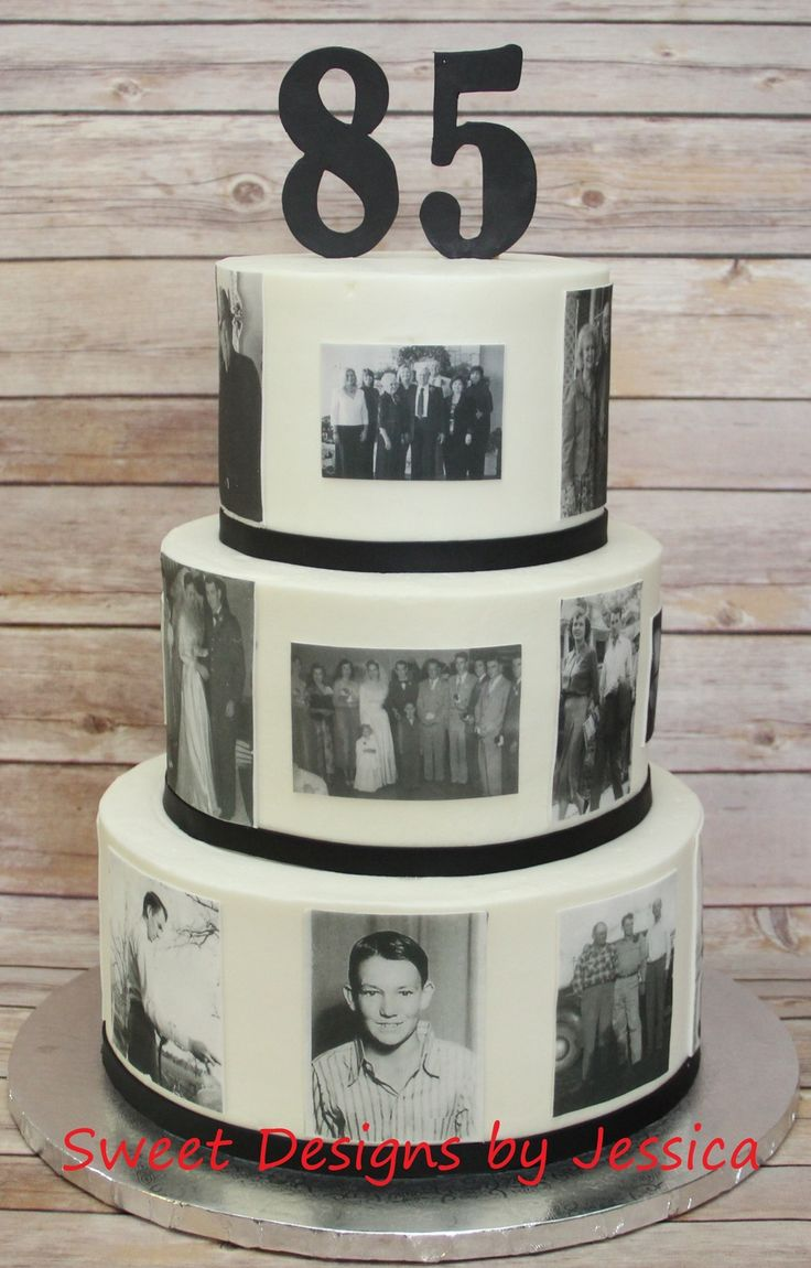 85th birthday with edible pics of times through out his...