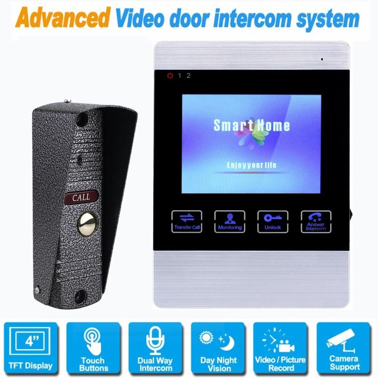 102.97$  Watch here - http://aliovy.worldwells.pw/go.php?t=32789766296 - Video Door Phone Wired 4 inch Doorbell Monitor With 800 TVL IR Camera Video Intercom Home Support Security CCTV Camera &SD Card 102.97$