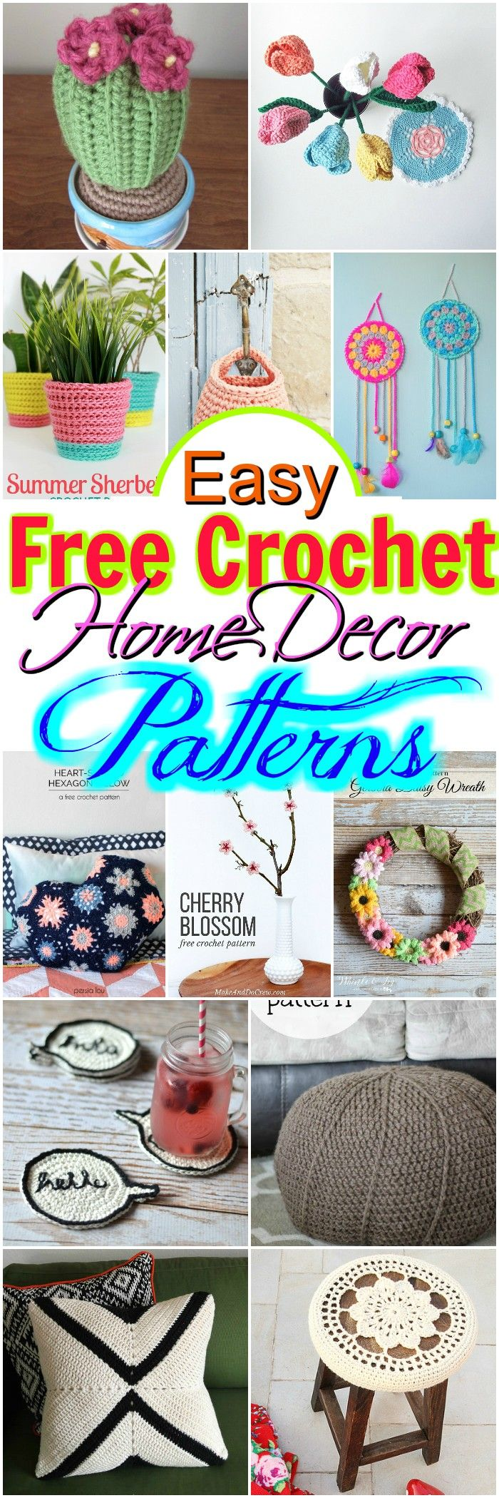 we have brought some inspirational and interesting free #crochet #home #decor patterns for you.