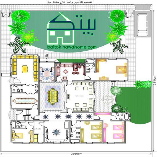 مخطط منزل دور واحد Family House Plans House Design Design