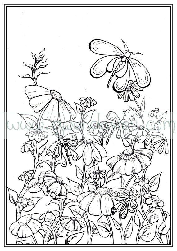 Adult Colouring In Pdf Download Garden Henna Zen Mandalas Flower