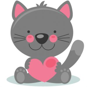 Cute Valentine Kitty scrapbook cuts SVG cutting files doodle cut files for scrapbooking clip art clipart doodle cut files for cricut free svg cuts