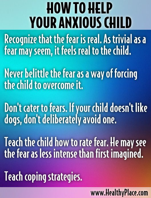 how to raise anxious child