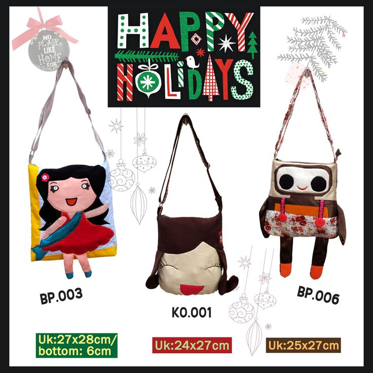 Cute bags for Xmas gift,Happy Holiday! // Tas Unik / Meiki Tas Unik / Tas Handmade / Tas Lucu / Kado Unik / Handmade bags.