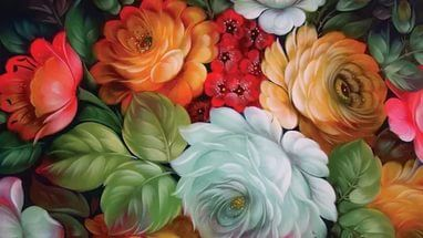 Bunga, Lukisan, Nature & Landscapes wallpaper ponsel 1024x768