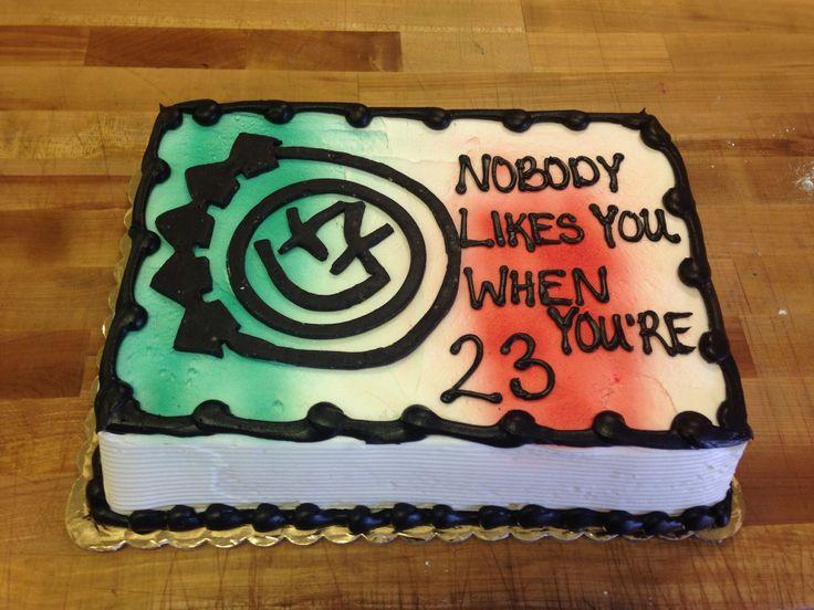 blink 182 cake for Dylan's birthday