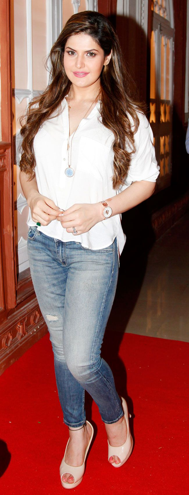 Zarine Khan on first day shoot of 'Hate Story 3'. #Bollywood #Fashion #Style #Beauty