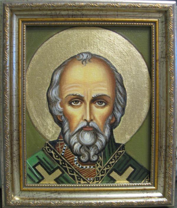 Св.Николай Чудртворец (холст,масло)-художник Ядвига Сенько