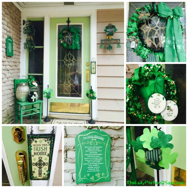 Picmonkey collage st patrick 39 s day porch and mantel for St patricks day decorations for the home